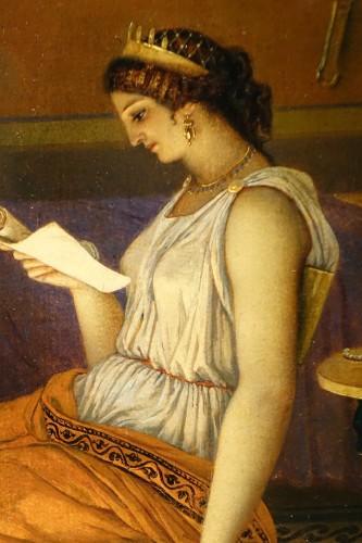 """Napoléon III - """"Actors in the backstage in ancient Greece"""", att. Lecomte du Noüy"""