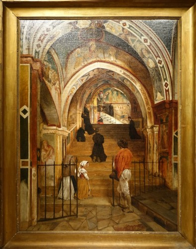 Interior of the convent of San Benedetto, A.de Boisricheux (1802-1847)