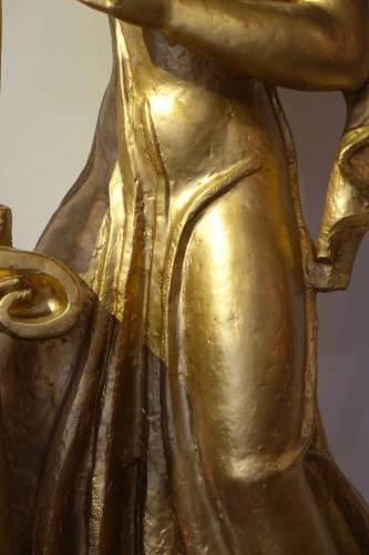 Antique theme gilt terracotta, A. Bizette-Lindet ( 1906-1998) - Art Déco