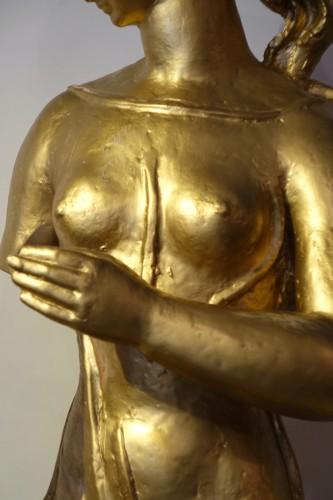 Art Déco - Antique theme gilt terracotta, A. Bizette-Lindet ( 1906-1998)