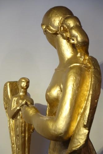 Antiquités - Antique theme gilt terracotta, A. Bizette-Lindet ( 1906-1998)