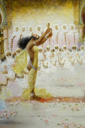 """""""A young dancer in front of a sultan"""", A. RIVAS, circa 1890 - Paintings & Drawings Style Napoléon III"""