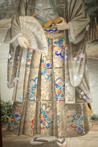 Asian Works of Art  - Full-length portrait of a Westerner in samurai dress, circa 1890.