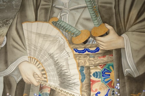 19th century - Full-length portrait of a Westerner in samurai dress, circa 1890.