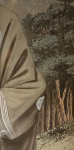 Antiquités - Full-length portrait of a Westerner in samurai dress, circa 1890.