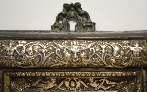 Embossed metal plate with allegorical figures, Prague 16th century -