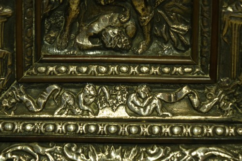 Renaissance - Embossed metal plate with allegorical figures, Prague 16th century