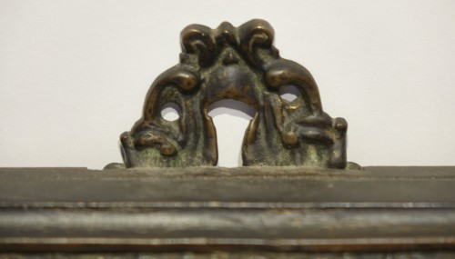 Antiquités - Embossed metal plate with allegorical figures, Prague 16th century