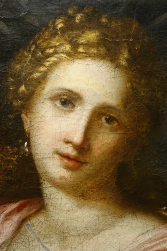 """""""Athena"""", oil on canvas, Italy, early 17th century. - Paintings & Drawings Style Louis XIII"""