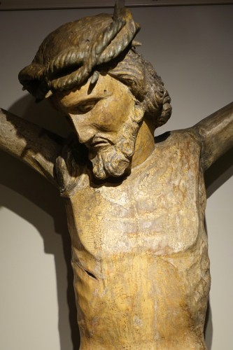Sculpture  - Very large wooden Christ, Germany, 16th c.