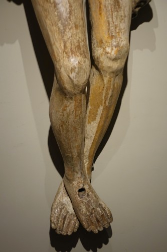 <= 16th century - Very large wooden Christ, Germany, 16th c.