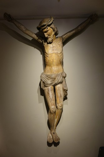 Antiquités - Very large wooden Christ, Germany, 16th c.