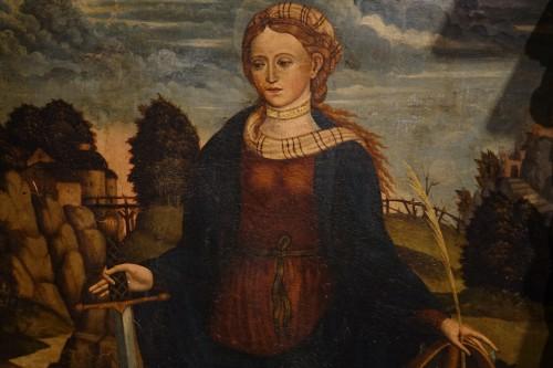 Saint Catherine of Alexandria, Spain, late 15th c. - Paintings & Drawings Style Renaissance