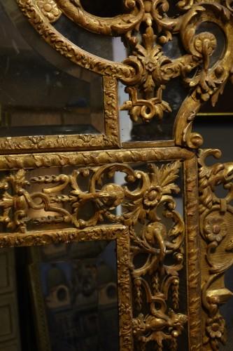 Very large gilt wood Regency period mirror, France, circa 1720 -