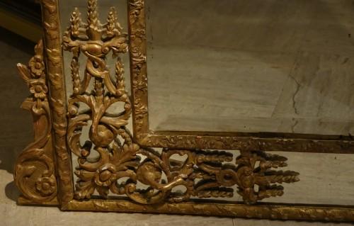 18th century - Very large gilt wood Regency period mirror, France, circa 1720