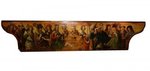 Predella(?) representing a Nativity and several saints, Bavaria, circa 1520