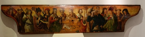 Predella(?) representing a Nativity and several saints, Bavaria, circa 1520 - Religious Antiques Style Renaissance