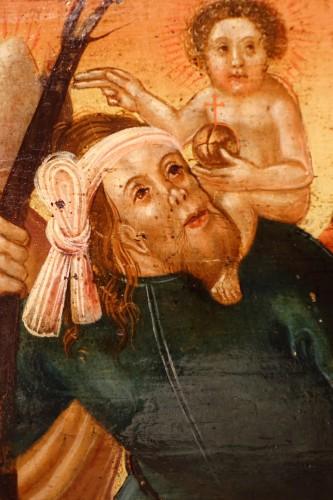 Predella(?) representing a Nativity and several saints, Bavaria, circa 1520 -