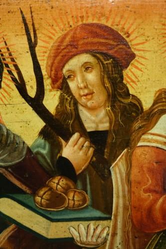 <= 16th century - Predella(?) representing a Nativity and several saints, Bavaria, circa 1520