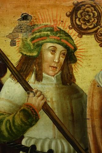 Predella(?) representing a Nativity and several saints, Bavaria, circa 1520 - Renaissance