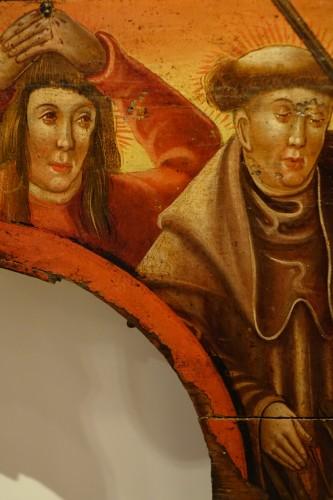 Renaissance - Predella(?) representing a Nativity and several saints, Bavaria, circa 1520
