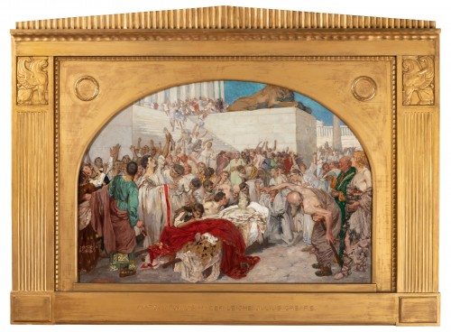 Mark Antony's Funeral Oration over the Corpse of Caesar , Robert Seuffert  - Paintings & Drawings Style Art nouveau