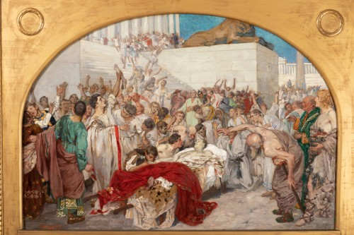 19th century -  Mark Antony's Funeral Oration over the Corpse of Caesar , Robert Seuffert
