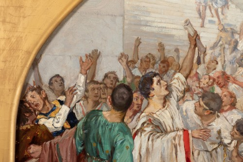 Mark Antony's Funeral Oration over the Corpse of Caesar , Robert Seuffert  - Art nouveau