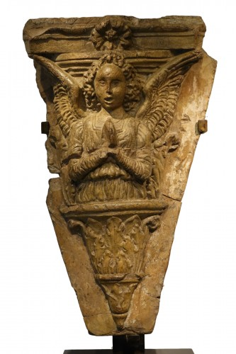 Bust of an Angel praying, terracotta, Italy, 16th c.