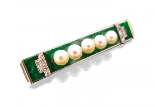 Art deco brooch signed boucheron paris
