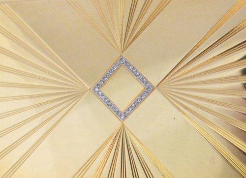 Art deco box signed janesich paris, monte carlo - Antique Jewellery Style Art Déco