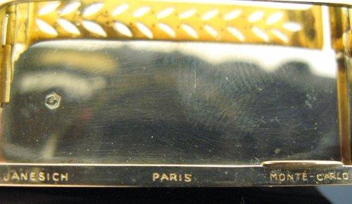 Art deco box signed janesich paris, monte carlo -