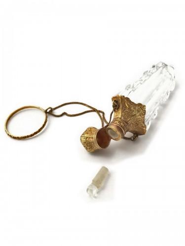 French Napoleon III crystal and gold Salt bottle