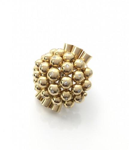 """Antique Jewellery  - Clip """"Bouquet"""" - René BOIVIN"""