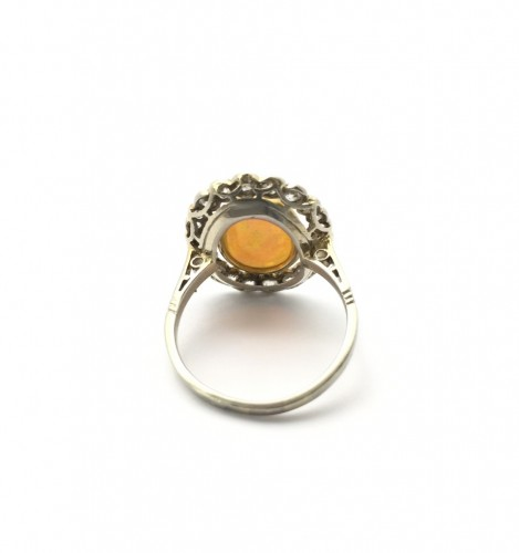Opal Ring - Antique Jewellery Style Art Déco