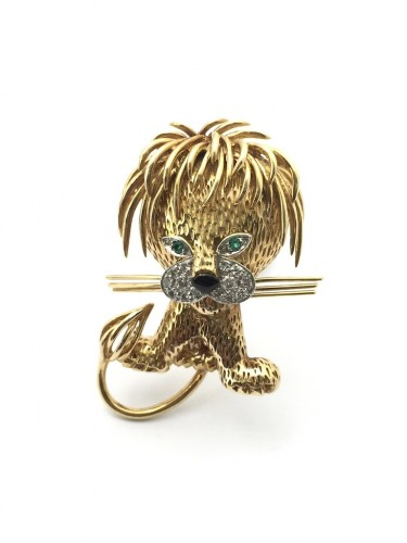 "Van Cleef & Arpels - Brooch ""Ruffled Lion"""