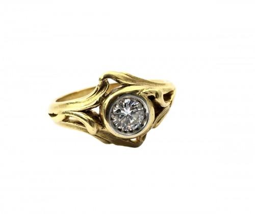 Art Nouveau ring - Late 19th century