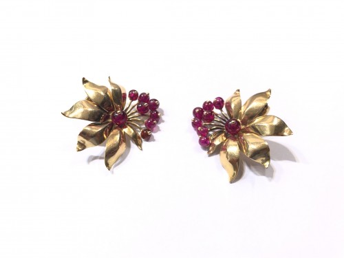 """""""Red berry"""" earrings - Antique Jewellery Style"""