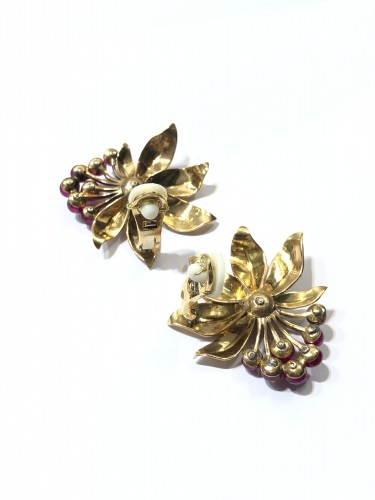 """Antique Jewellery  - """"Red berry"""" earrings"""