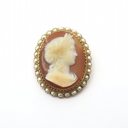 Cameo brooch late 19th century - Antique Jewellery Style Napoléon III