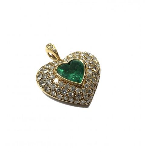 "Emerald ""Heart"" pendant"