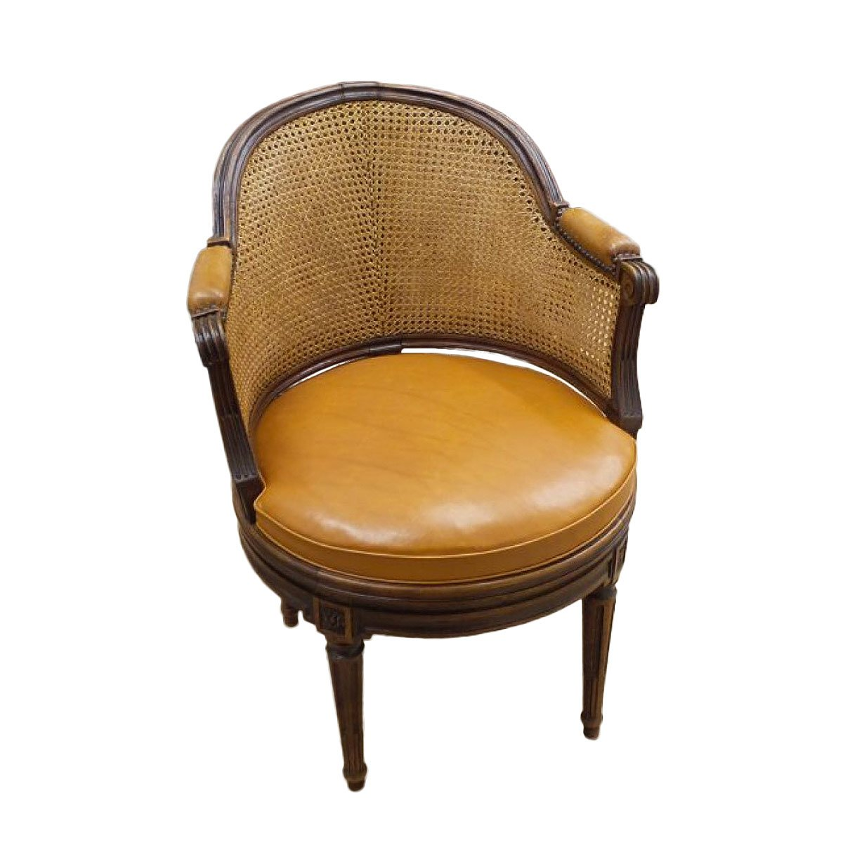 fauteuil de bureau tournant d 39 poque louis xvi estampill. Black Bedroom Furniture Sets. Home Design Ideas