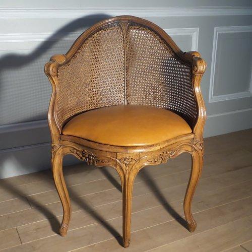 chaise de bureau louis xv. Black Bedroom Furniture Sets. Home Design Ideas