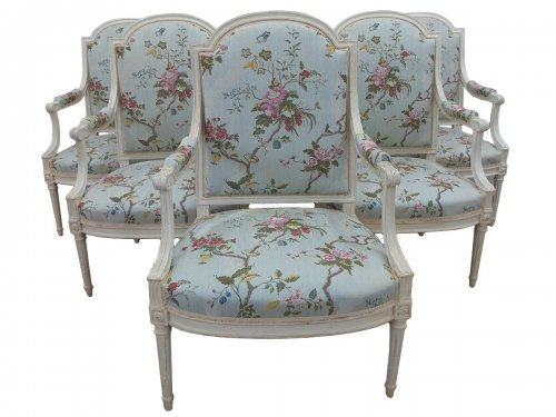Fauteuils Louis XVI estampillés Henry Jacob