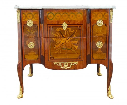 Commode d'époque Transition estampillée M. OHNEBERG