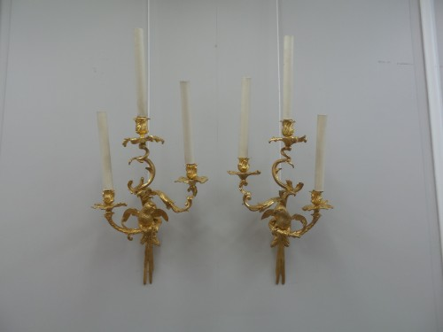 Lighting  - Pair of bronze sconces