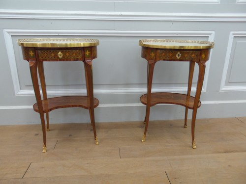 Pair of Transition tables stamped Dusautoy - Furniture Style Transition