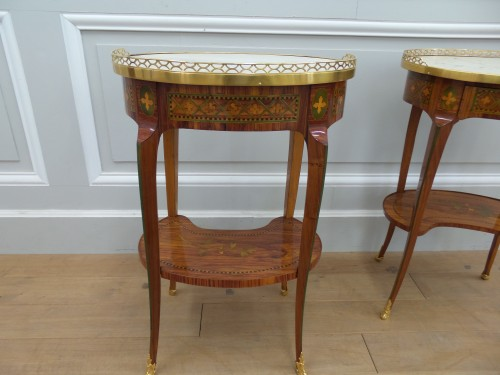 Furniture  - Pair of Transition tables stamped Dusautoy