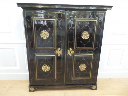 Louis XIV Cabinet in ebony - Furniture Style Louis XIV