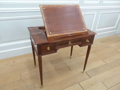Furniture  - French Louis XVI desk stamped Gaspard Schneider